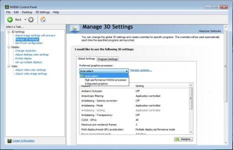 آموزش تنظیمات کارت گرافیک لپ تاپ